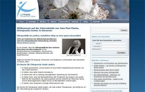 Screenshot - Internetseite von Jean-Paul Pianta, Chiropractic Center in Hannover