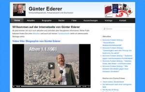 Internetseite von Günter Ederer