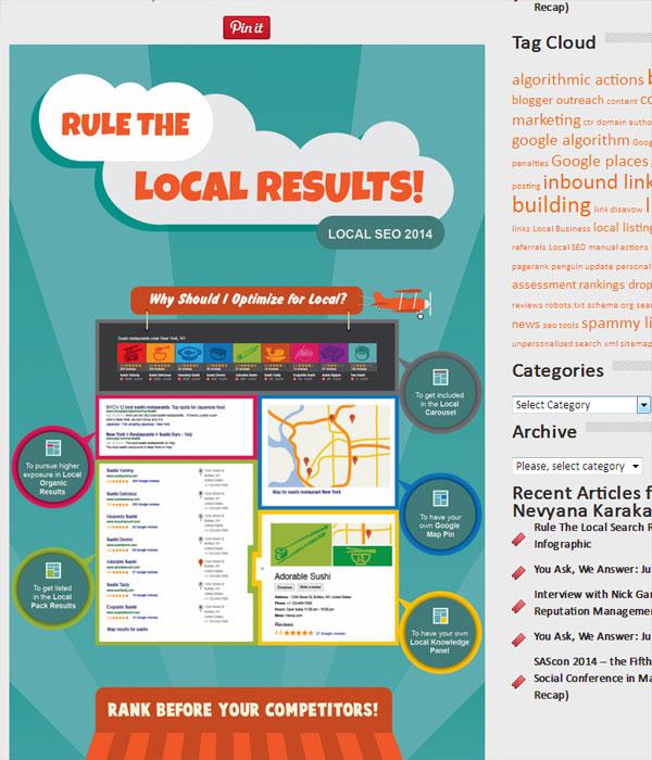Infografik - Lokale Suchmaschinenoptimierung für Google