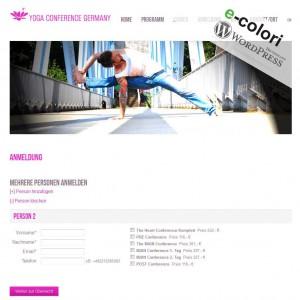 Wordpress Plugin Yoga Gruppen, mehere Kunden