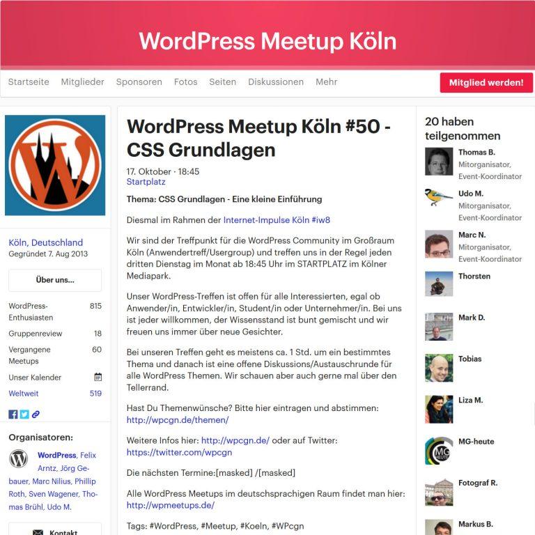Meetup aus über 50