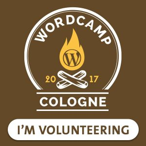 WordPress WordCamp Köln - Volunteer 2017