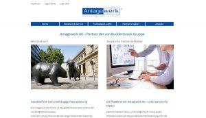 WordPress Internetseite - Anlagewerk AG in Bonn