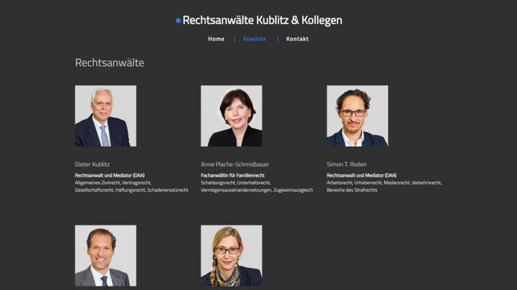 WordPress Webdesign Rechtsanwälte Köln